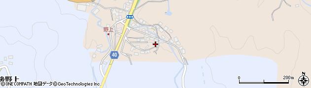 大分県玖珠郡九重町野上38周辺の地図