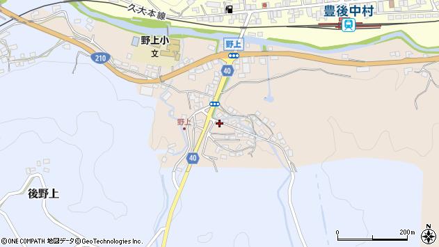 大分県玖珠郡九重町野上33周辺の地図