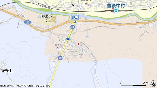 大分県玖珠郡九重町野上497周辺の地図