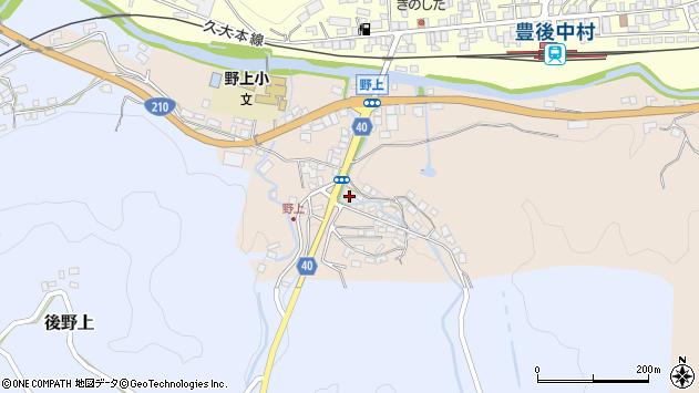 大分県玖珠郡九重町野上周辺の地図