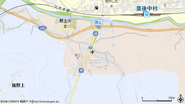 大分県玖珠郡九重町野上502周辺の地図