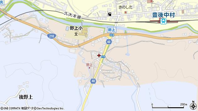 大分県玖珠郡九重町野上8周辺の地図