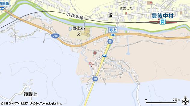 大分県玖珠郡九重町野上11周辺の地図
