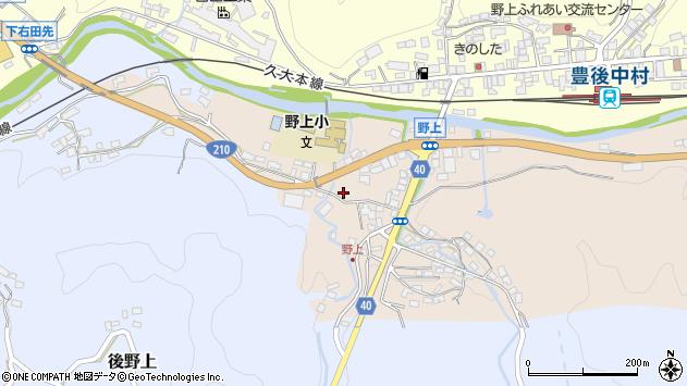 大分県玖珠郡九重町野上南区周辺の地図