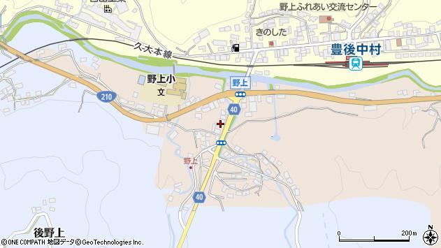 大分県玖珠郡九重町野上4周辺の地図