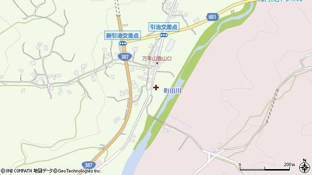 大分県玖珠郡九重町引治1180周辺の地図