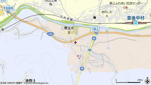 大分県玖珠郡九重町野上15周辺の地図