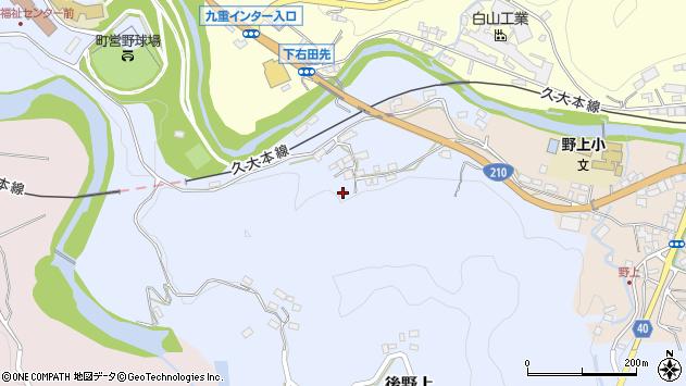 大分県玖珠郡九重町後野上194周辺の地図