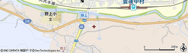 大分県玖珠郡九重町野上北区周辺の地図