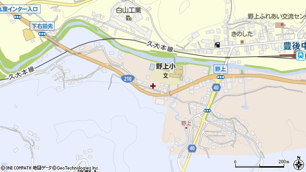 大分県玖珠郡九重町後野上145周辺の地図