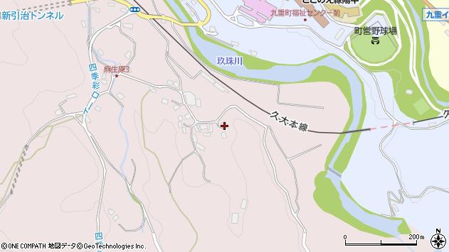 大分県玖珠郡九重町町田5253周辺の地図