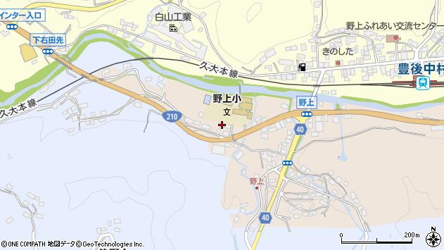 大分県玖珠郡九重町野上17周辺の地図