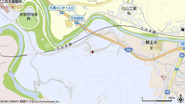 大分県玖珠郡九重町後野上165周辺の地図
