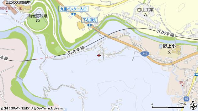 大分県玖珠郡九重町後野上191周辺の地図