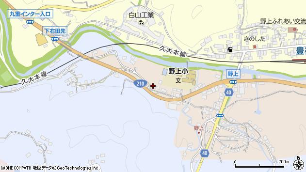大分県玖珠郡九重町後野上141周辺の地図