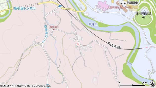 大分県玖珠郡九重町町田5336周辺の地図