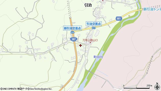 大分県玖珠郡九重町引治670周辺の地図