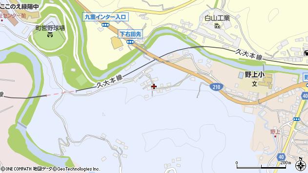 大分県玖珠郡九重町後野上169周辺の地図