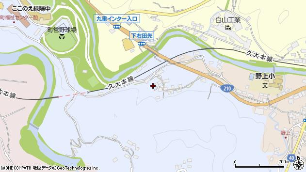 大分県玖珠郡九重町後野上187周辺の地図