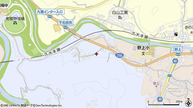 大分県玖珠郡九重町後野上162周辺の地図