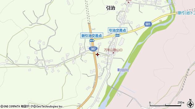 大分県玖珠郡九重町引治671周辺の地図