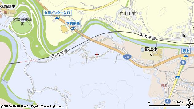 大分県玖珠郡九重町後野上180周辺の地図