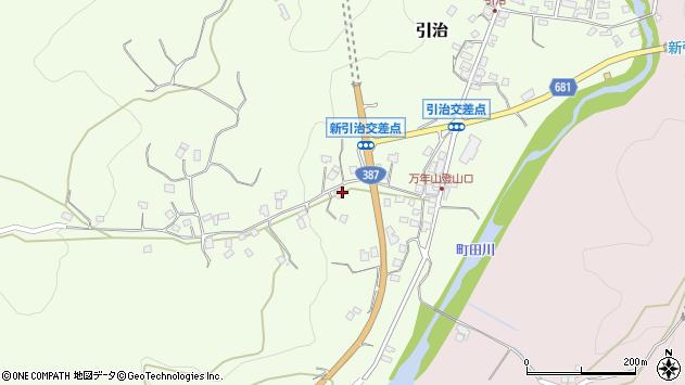 大分県玖珠郡九重町引治677周辺の地図