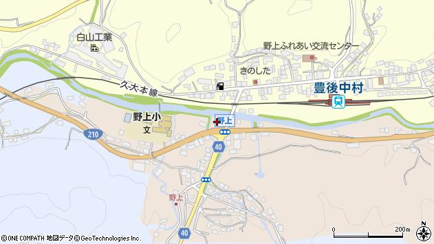 大分県玖珠郡九重町野上498周辺の地図