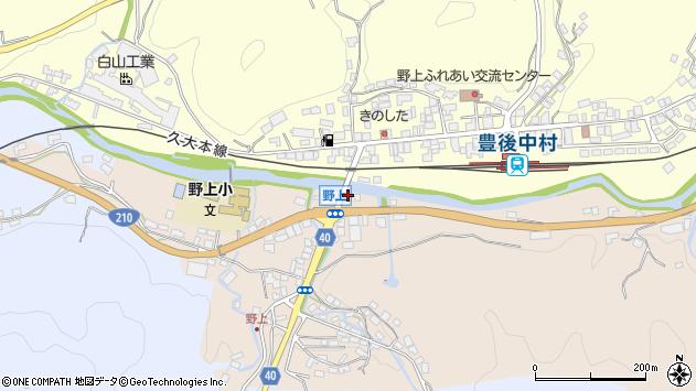 大分県玖珠郡九重町野上524周辺の地図