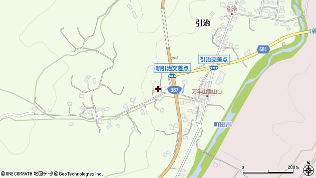 大分県玖珠郡九重町引治665周辺の地図