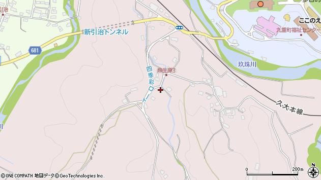 大分県玖珠郡九重町町田921周辺の地図