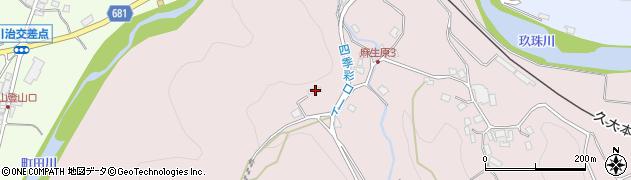 大分県玖珠郡九重町町田871周辺の地図