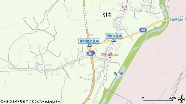 大分県玖珠郡九重町引治649周辺の地図