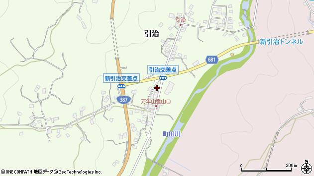 大分県玖珠郡九重町引治583周辺の地図