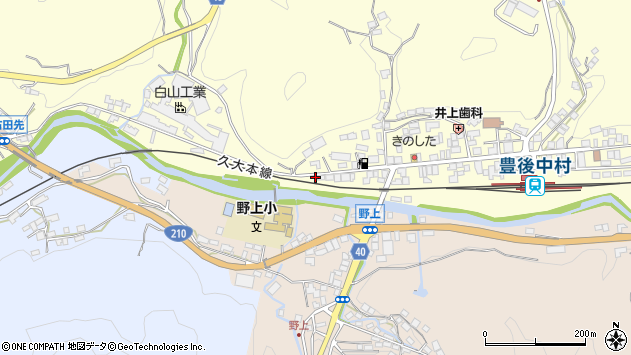 大分県玖珠郡九重町右田1028周辺の地図