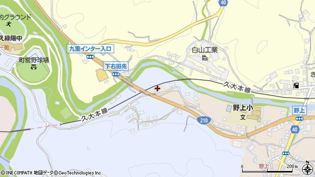 大分県玖珠郡九重町後野上133周辺の地図