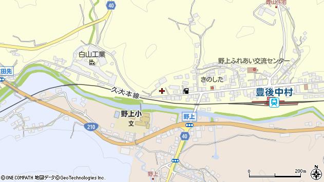 大分県玖珠郡九重町右田1027周辺の地図
