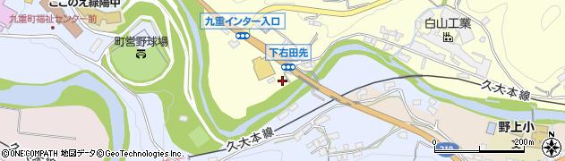 大分県玖珠郡九重町右田1374周辺の地図