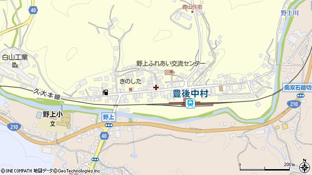 大分県玖珠郡九重町右田719周辺の地図