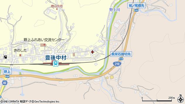 大分県玖珠郡九重町右田686周辺の地図