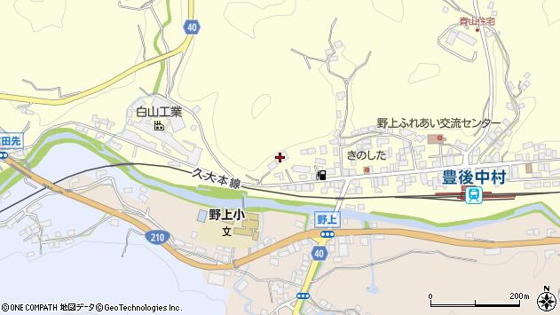 大分県玖珠郡九重町右田1022周辺の地図