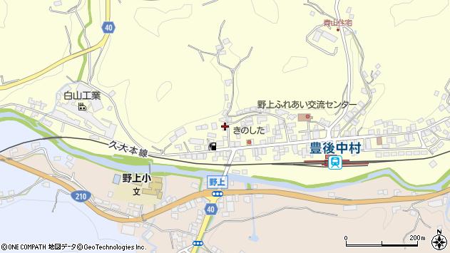 大分県玖珠郡九重町右田1002周辺の地図