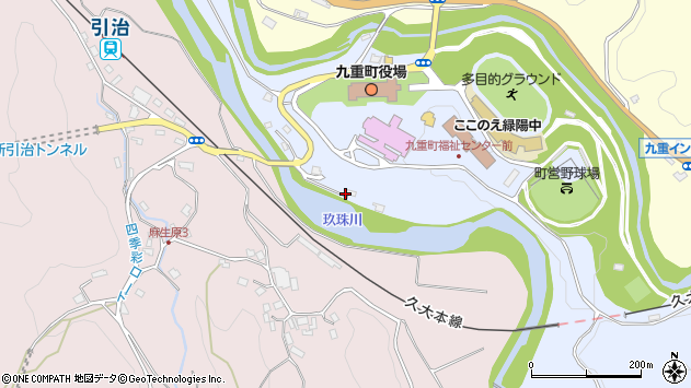 大分県玖珠郡九重町後野上10周辺の地図