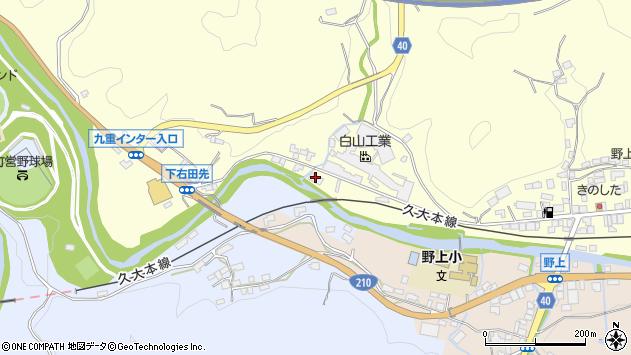 大分県玖珠郡九重町右田1060周辺の地図