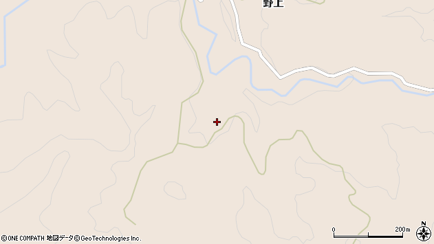 大分県玖珠郡九重町野上1963周辺の地図
