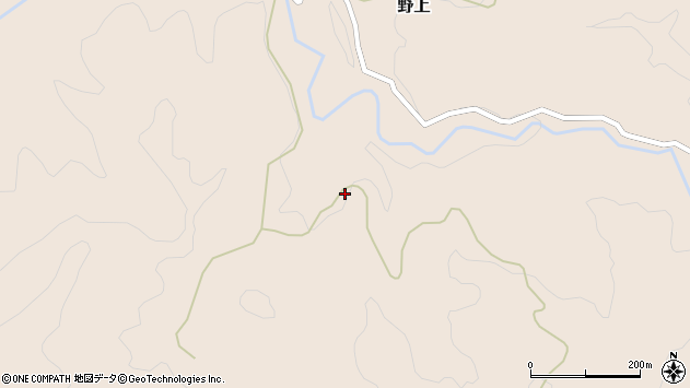 大分県玖珠郡九重町野上麦ノ平周辺の地図