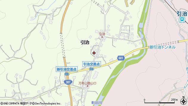 大分県玖珠郡九重町引治605周辺の地図