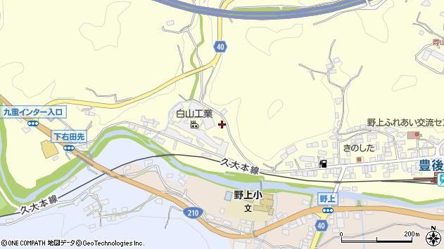 大分県玖珠郡九重町右田1046周辺の地図