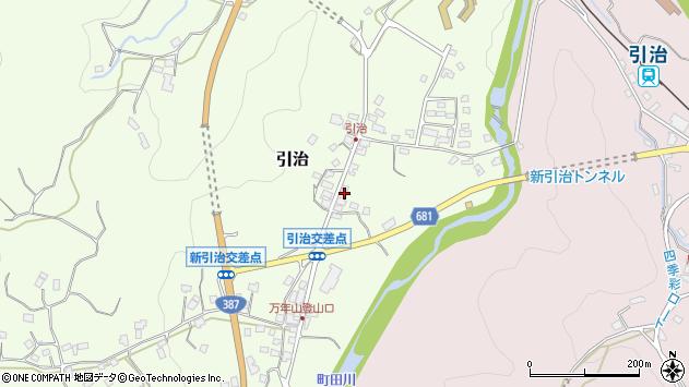 大分県玖珠郡九重町引治591周辺の地図