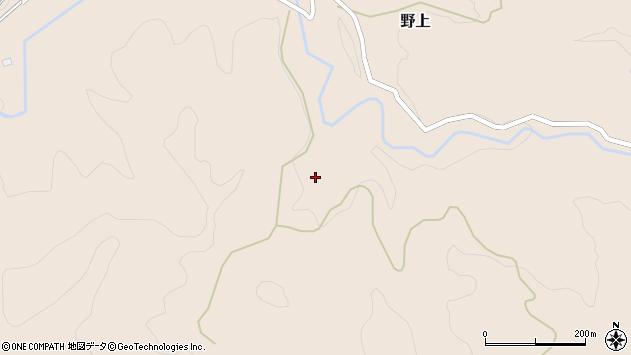 大分県玖珠郡九重町野上1878周辺の地図